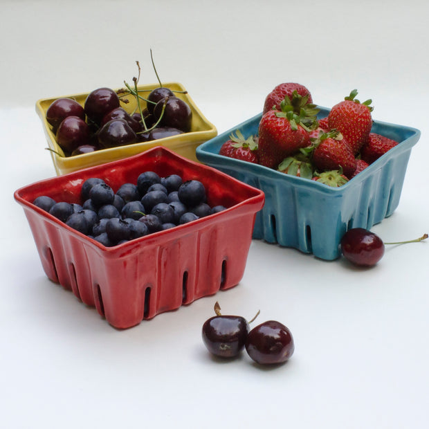 From Donna's Hands - Small Ceramic Berry Baskets