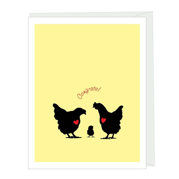 Apartment 2 Cards - New Chick Congrats Greeted Baby Card
