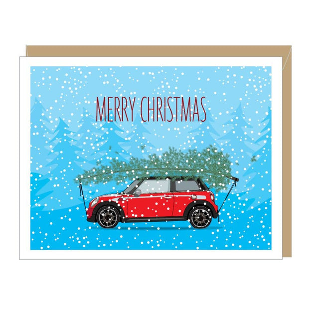 Apartment 2 Cards - Holiday Mini Cooper Card (single or boxed)