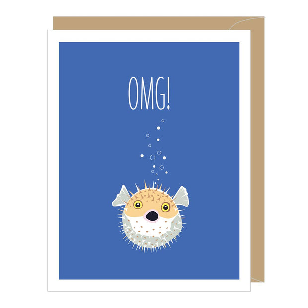 Apartment 2 Cards - Blowfish Greeted Birthday Card