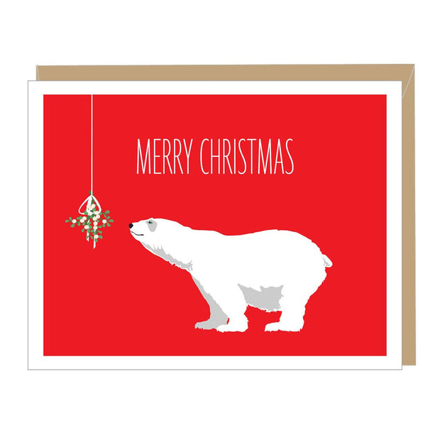 Apartment 2 Cards - Holiday Bear Greeted Card (single or boxed)
