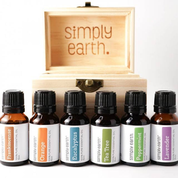 Simply Earth - Boxed Set (6) - Popular Single Oils