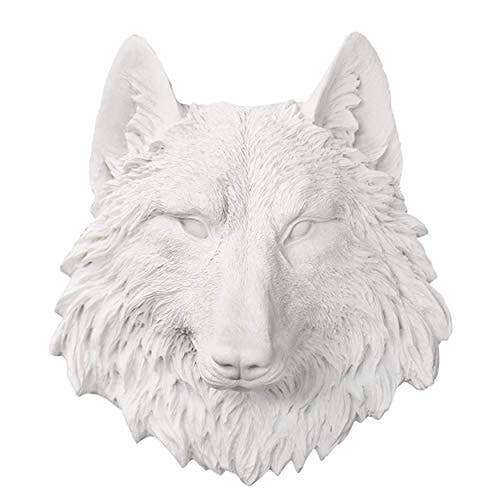 Wall Charmers - The Sierra Mini Wolf Head Faux Taxidermy Single Color