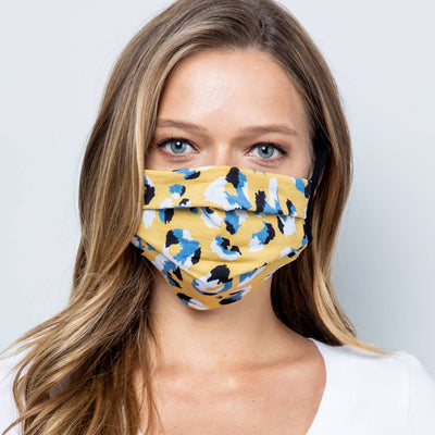 Pleated Fabric Face Mask