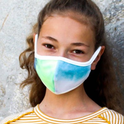 Kids Tie dye Fabric Face Mask