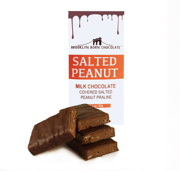 Brooklyn Born Chocolate - Salted Peanut Milk Chocolate Bar
