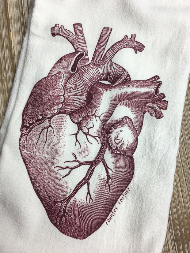 Anatomical Heart Towel-by Counter Couture