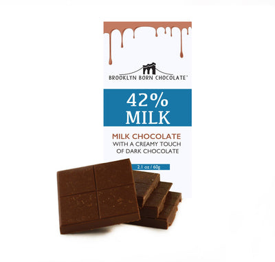 Brooklyn Born Chocolate - 42% Milk Chocolate Chocolate Bar
