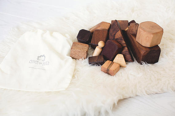 Clover and Birch - Wood Blocks