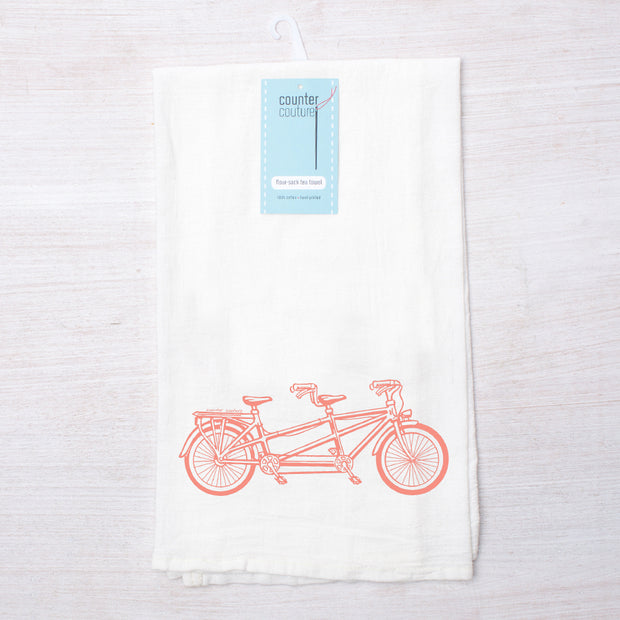 Bicycle for Two Tea Towel