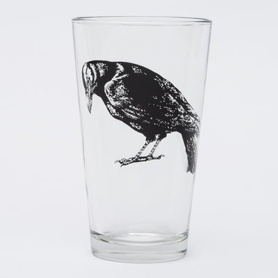 Raven Pint Glass