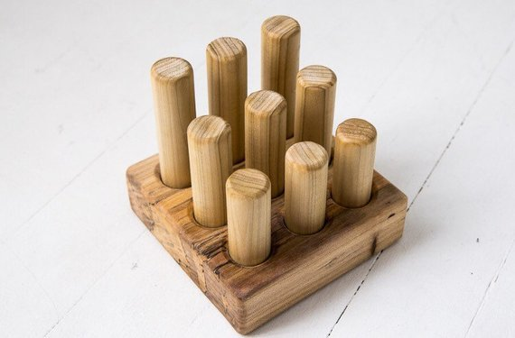Wooden Peg Puzzle by Clover and Birch