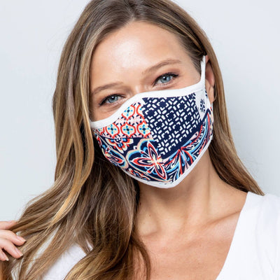Geometric Fabric Face Mask