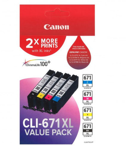 Canon CLI-671xl Value Pack