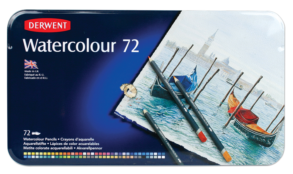 Pencils Derwent Water Colour 72 pack