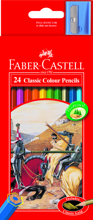 Pencils Faber Classic Coloured 24 pack