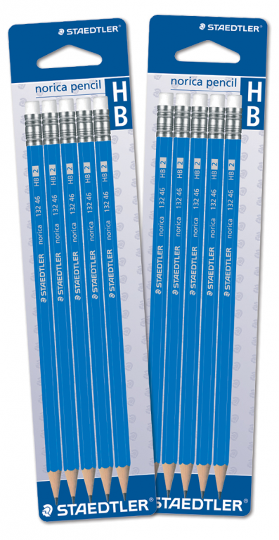 Pencils Staedtler HB Erasertipped Card of 5