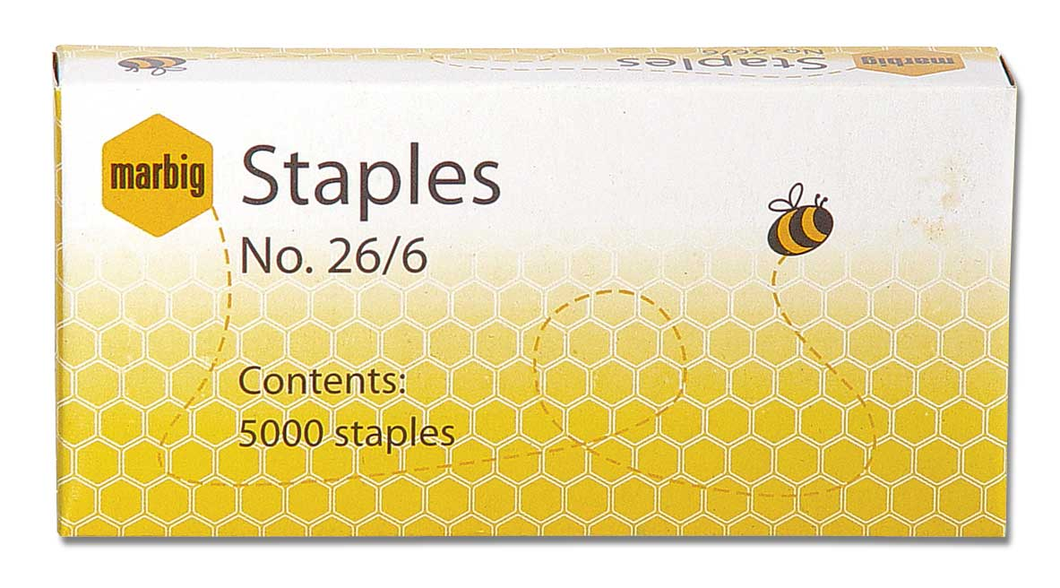 Staples Marbig 26/6 5000's