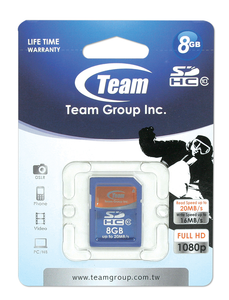 SDHC Memory Card 8GB Team Class 10
