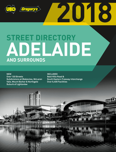Street Directory UBD Gregorys Adelaide 2018