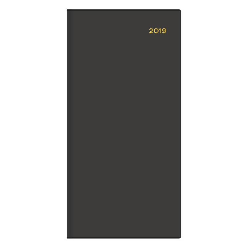 Belmont Black Pocket Diary 2019 B6/7 Slim Portrait WTV