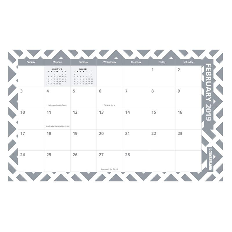 Cumberland Fashion 2019 Desk/ Wall Planner 2019