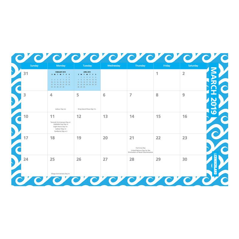Cumberland Fashion 2019 Desk Wall Planner 2019 Campbell S