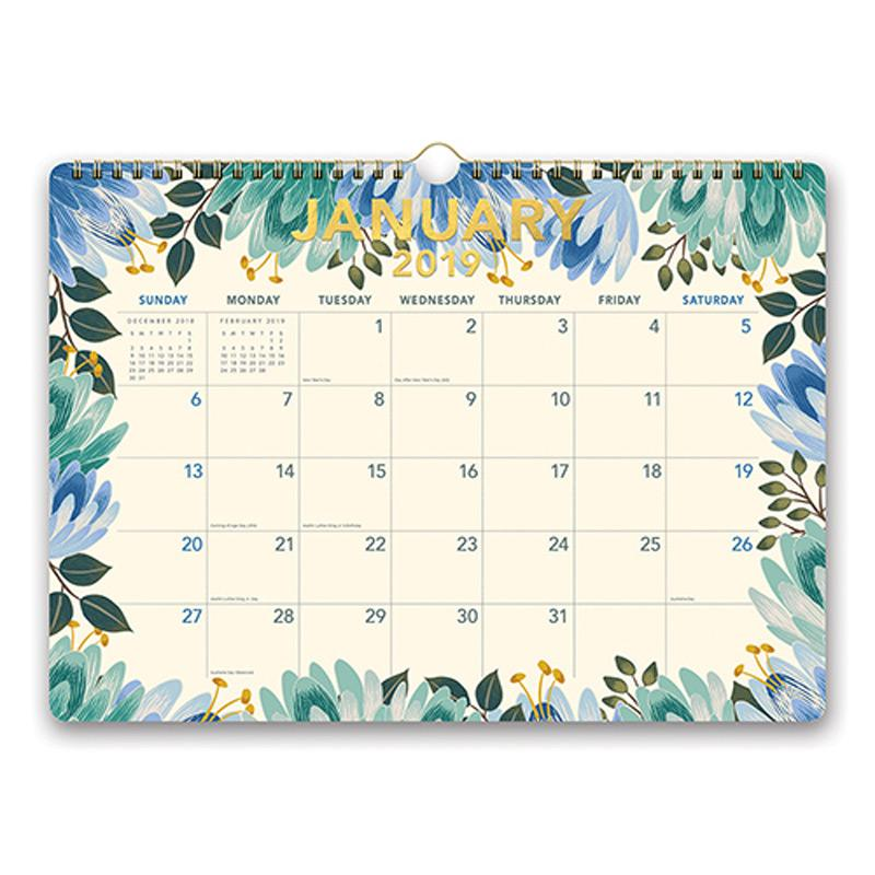 Orange Circle Deluxe Calendar 2019 Flower Power