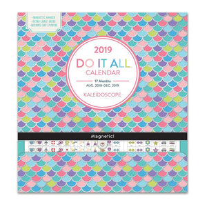 Orange Circle Do It All 2019 Wall Calendar Kaleidoscope