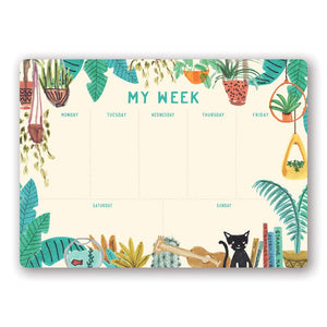 Orange Circle Weekly Desk Pad