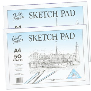 Sketch Pad Quill A4 Cartridge 50 Leaf PSC5A4