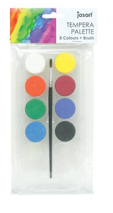 Tempera Set Jasart 18 Colours & Brush