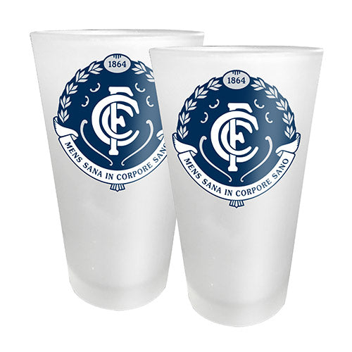 AFL - Carlton 2 x Conical Glasses