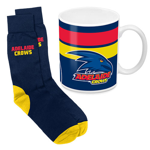 AFL - Adelaide Crows Mug & Socks Gift Pack