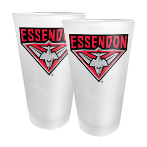 AFL - Essendon 2 x Conical Glasses