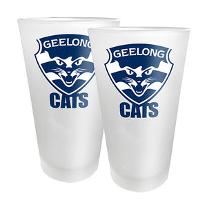AFL - Geelong 2 x Conical Glasses