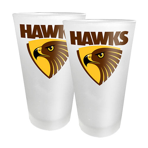 AFL - Hawthorn 2 x Conical Glasses
