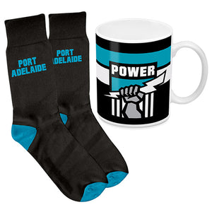 AFL - Port Power Mug & Sock Gift Pack