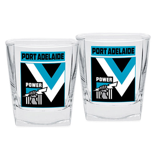 AFL - Port Power Spirit Glasses