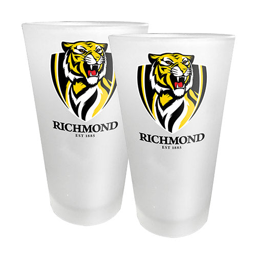 AFL - Richmond 2 x Conical Glasses