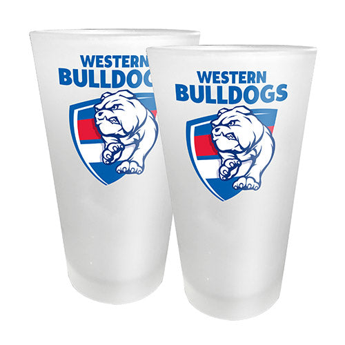 AFL - Western Bulldogs 2 x Conical Glasses