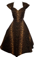 Leopard Print Vintage Style Dress (Pack of 6)