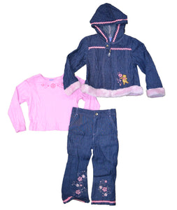 Disney Winnie The Pooh Denim2 Girls 3-Piece Set (2T - 4T, pack of 12) $108 per pack