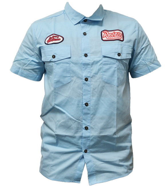 Disney Mens Cars Work Shirt Polo Button Down
