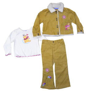 Disney Winnie The Pooh Corduroy Girls 3-Piece Set (12M - 24M, pack of 12) $108 per pack