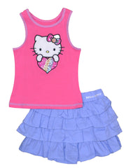 Hello Kitty Tiered Skirt Set 2-Piece Set (2T - 4T, pack of 12)