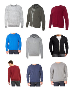 Mens Asstd REGULAR Sizes S - 2XL BELLA + CANVAS Sweatshirts ($4.50 ea - 24 pcs in a Pack)