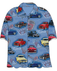 Licensed FORD Mens Button Down Shirt