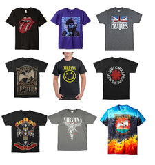 Mens Asstd REGULAR Sizes S - 2XL Rock & Roll Licensed T-shirts ($4.50 ea)