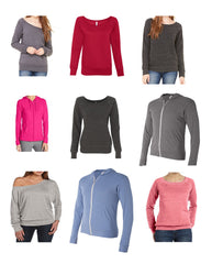 Womens Asstd REGULAR Sizes S - 2XL BELLA + CANVAS Sweatshirts ($4.50 ea - 24 pcs in a Pack)
